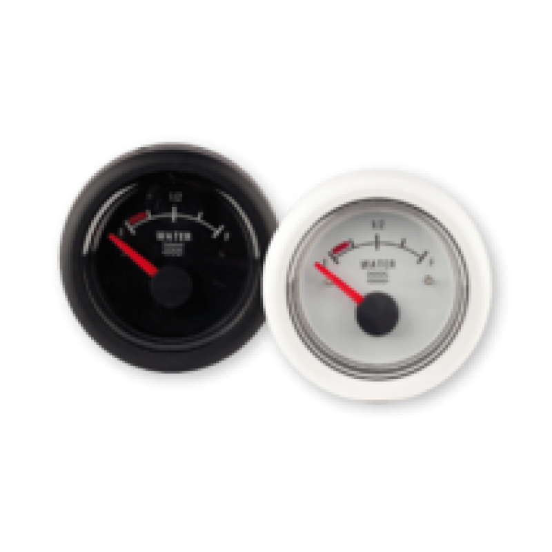 Fuel gauge 12V black