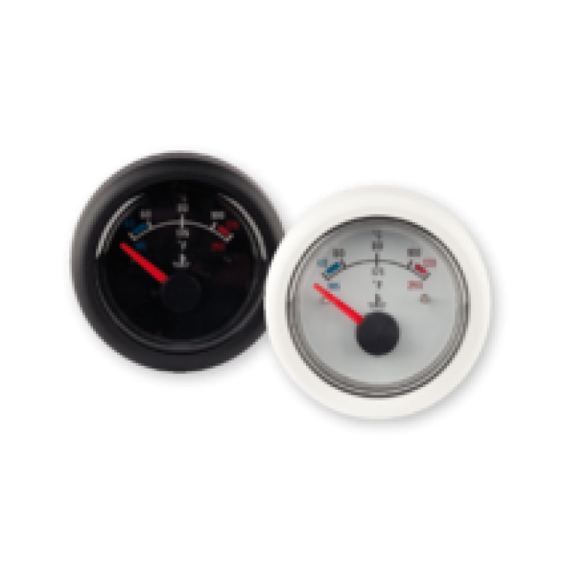Temperature gauge 12V 40-120deg black