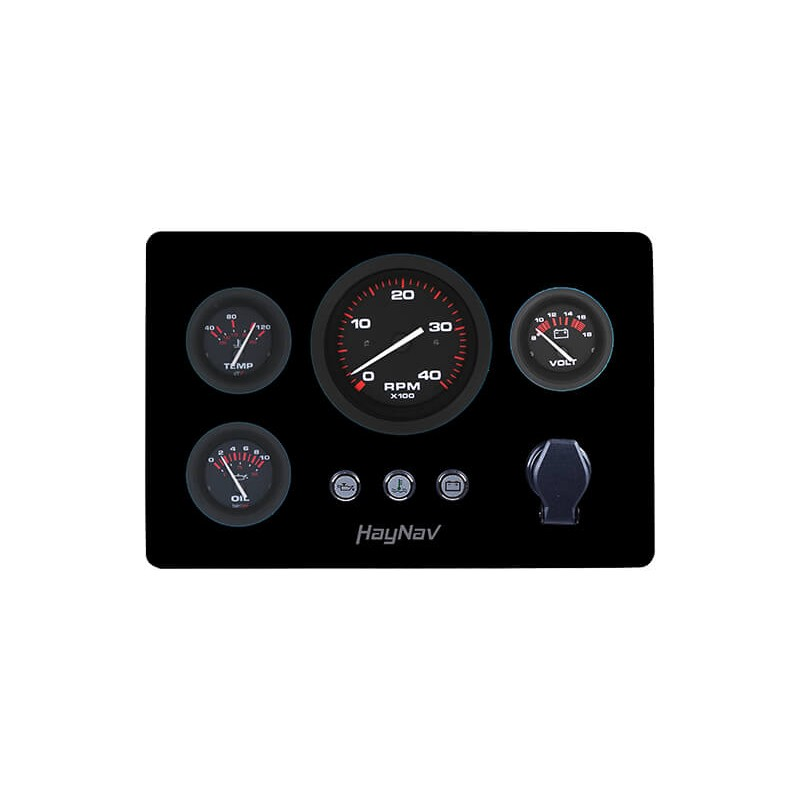 Engine panel type ARA Black: tacho without hour