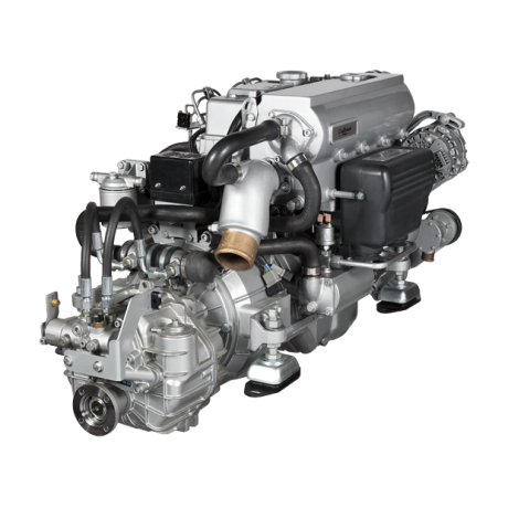 Marine diesel engine CM4.65 with gearbox ZF 25 and motor panel ALFA30E