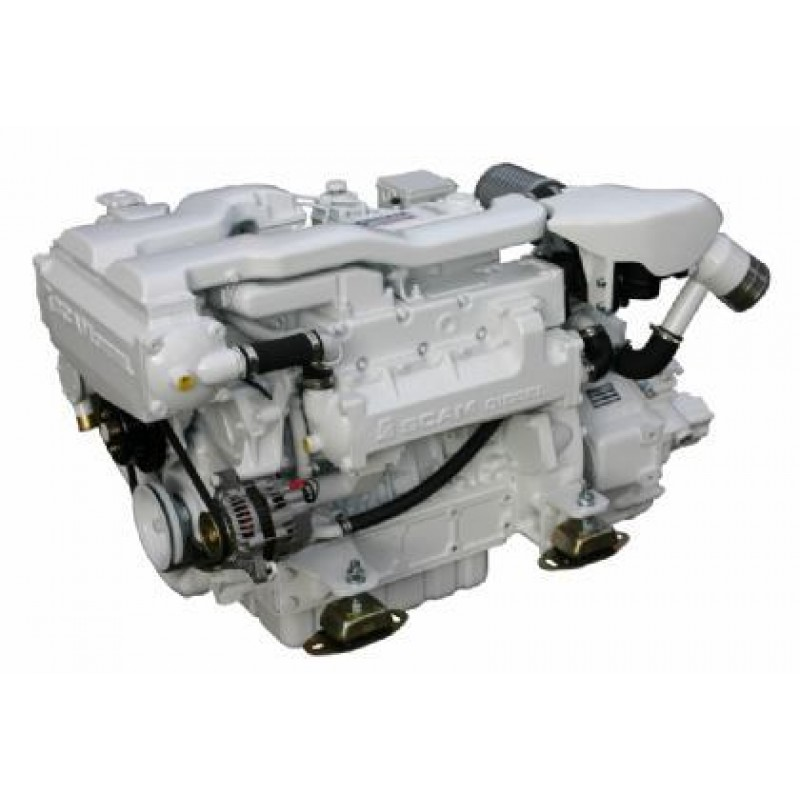 Marine engine SCAM DIESEL SD 4.140T with gearbox TM93