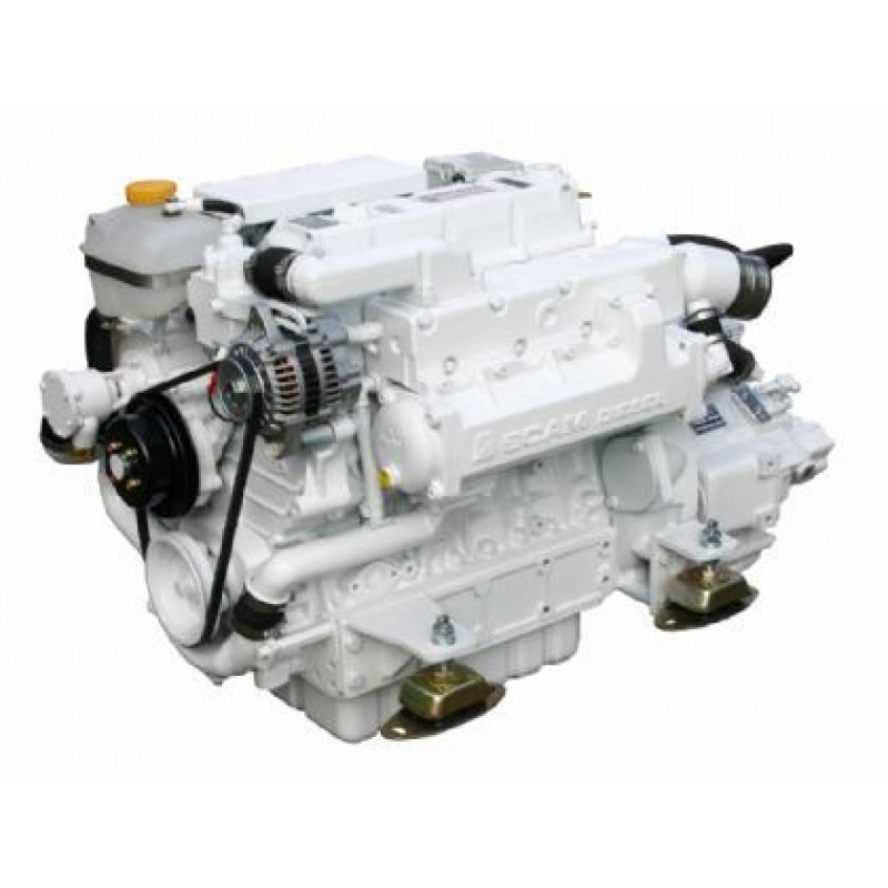Marine engine SCAM DIESEL SD 485 T with gearbox TM93A